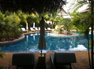 Am Samui Resort poolside
