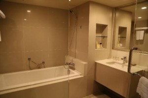 President Palace Hotel tub and toilet