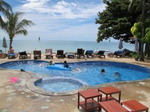 Seascape Beach Resort poolside