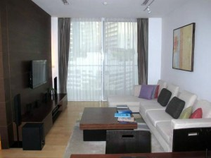 Shama Sukhumvit Bangkok living room corner with view of bangkok