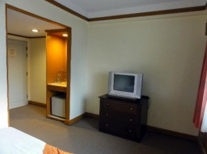 Silom City Hotel opposite side of the room with TV